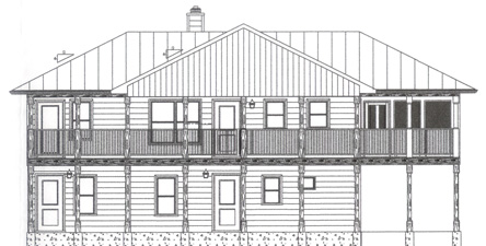 Front Elevation of Guest House